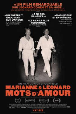Affiche - Marianne & Leonard : Mots d'amour